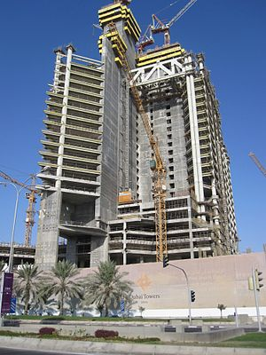 Dubai Towers Doha - Dubai towers under construction (Oct 2011)