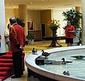Ducks in fountain at Peabody Hotel, Little Rock (7229703860).jpg