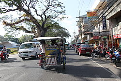 Highway along the city of Dumaguete.