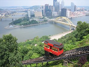 Downtown Pittsburgh vom Mount Washington aus