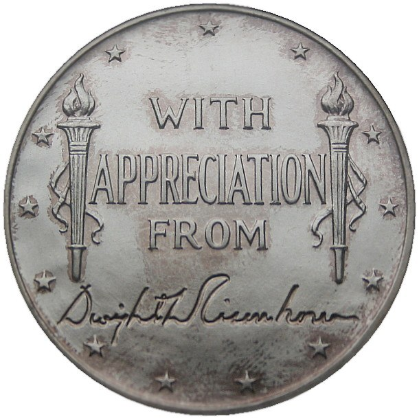 Dwight D. Eisenhower POTUS Appreciation Medal Hawaii Obverse