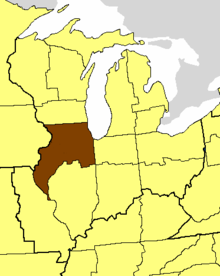 Location of the Diocese of Chicago