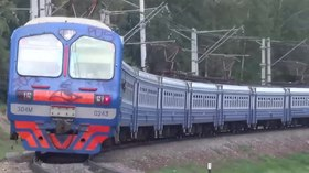 Файл:ED4M and other trains near Mytischi station.webm