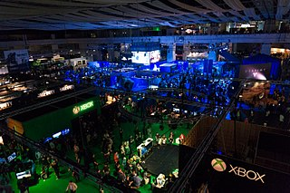 video game trade fair in the UK