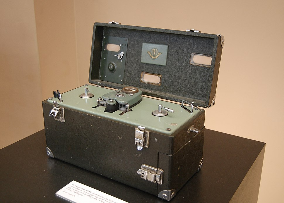EMI portable reel-to-reel tape recorder