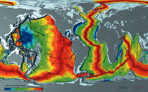 Plate reconstruction - Ages of oceanic lithosphere