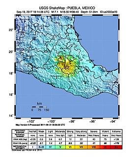 2017 Puebla earthquake September 2017 earthquake in Mexico