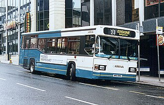 Arriva Scotland West - East Lancs MaxCi bodied Scania N113CRL in Glasgow in 2002