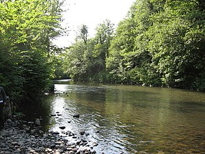 Ebbw River - Ebbw River at Tredegar Park