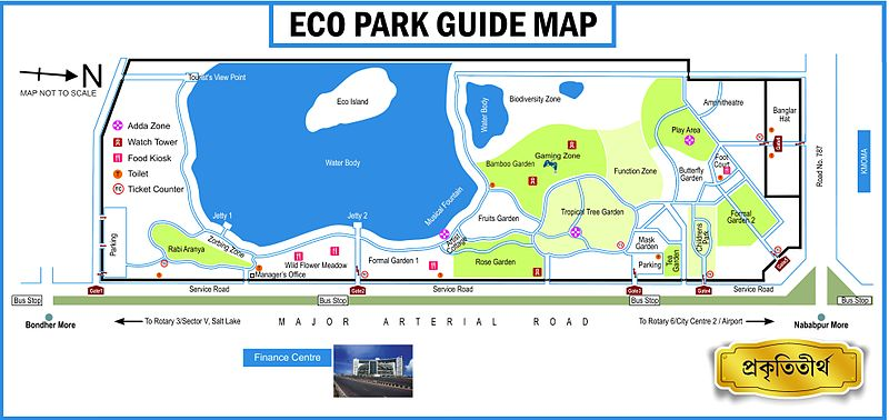 Eco Park Guide Map