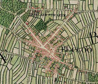 Eeklo - Eeklo on the Ferraris map (around 1775)