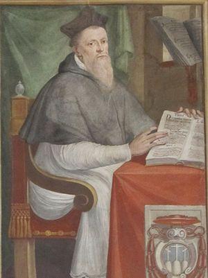 Giles of Viterbo - Cardinal Bishop Giles of Viterbo, 17th-century fresco in the Priori Palace, Viterbo, Italy.