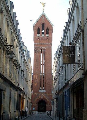 17th arrondissement of Paris - The clock tower of the Church of Saint Michel des Batignolles