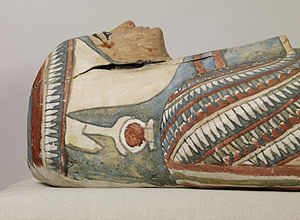 Cartonnage - Image: Egyptian Mummy and Painted Cartonnage of an Unknown Woman Walters 791 Detail C
