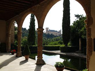Hieronymites - Garden of the Monastery of Parral (Segovia, Spain).