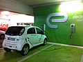 Electric automobile recharging at a Warsaw shopping center garage-1.jpg