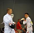 Eli Bremer in 2008 Summer Olympics modern pentathlon fencing event.jpg