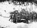 Első világháború, Skoda 30,5 Mörser mozsárágyú az olasz fronton. Fortepan 15487.jpg