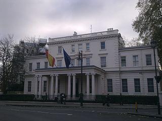 Grade I listed embassy in London, United Kingdom