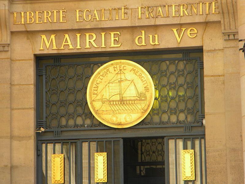 File:Emblem, (ship), and Slogan, (Fluctuat nec mergitor), of Paris.jpg