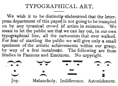 Emoticons, March 30, 1881