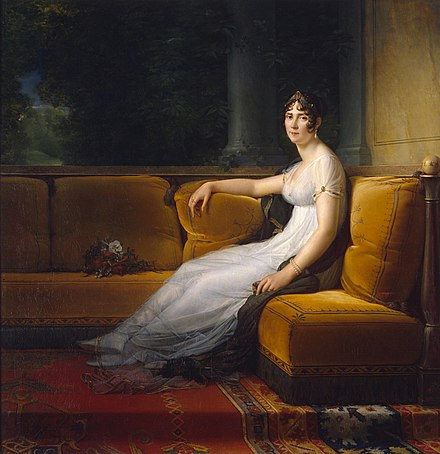 Madame Bonaparte at Malmaison in 1801 by Francois Gerard Emprjose.jpg