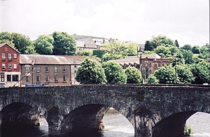 Battle of Vinegar Hill - The bridge at Enniscorthy  (Vinegar Hill visible in background)