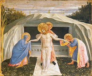 Lamentation of Christ (van der Weyden) - Fra Angelico's Pietà