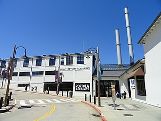 Hovden Cannery - Entrance to the Monterey Aquarium, located in the former Hovden Cannery building