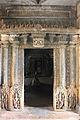 Entrance to closed mantapa from open mantapa in Kalleshvara temple at Bagali.JPG