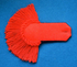 Epaulette plain red