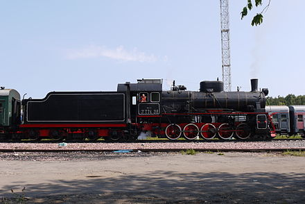 Er 774 38 0-10-0 on Steam Special Train in Moscow 11 July 2010 Er 774 38 Moscow.JPG