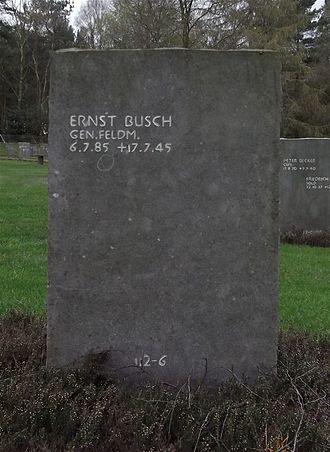 Ernst Busch (field marshal) - Busch's grave at Cannock Chase German Military Cemetery
