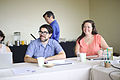 Eryk and Jami at Wiki Ed all-staff, 2015-07-07.jpg