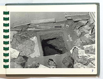 Maze Prison escape - RUC archive image (via the Public Record Office of Northern Ireland) taken following the November 1974 tunnel escape attempt