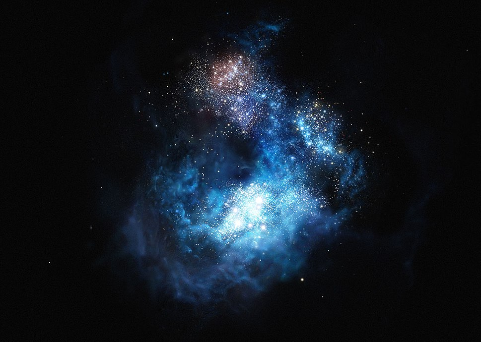 Eso1524aArtist's impression of CR7 the brightest galaxy in the early Universe