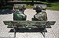 Estátuas de Fernando Lopes Graça e Fernando Araújo Ferreira - Tomar - Portugal (25001994425).jpg
