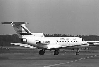 Estonian Air - A former Estonian Air Yakovlev Yak-40 in 1994