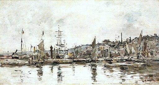 Eugène Boudin - Honfleur - O porto