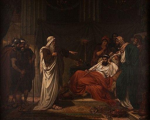 Eugène Siberdt - The Prophet Nathan rebukes King David