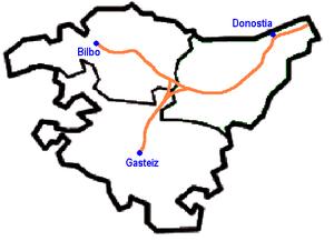 Basque Y - Basque Y route map.