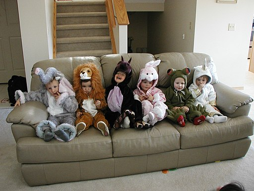 Evan and friends at halloween