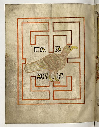Echternach Gospels - The Eagle, symbol of St John from the Echternach Gospels