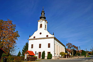 Religion in Slovenia - Lutheran church in Bodonci in the Prekmurje region