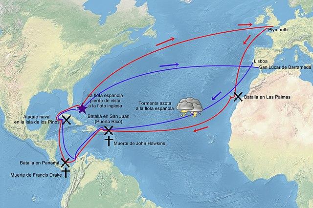 File expedici n de drake y hawkins 1595 for Cuarto viaje de colon