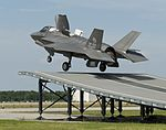 F-35B Lightning II Completes First Land-based Ski Jump Launch 150619-D-AW822-318.jpg