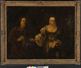 Portret van een man en een vrouw in een landschap