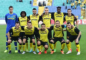 PFC Botev Plovdiv - Botev Plovdiv team before the 2016–17 Bulgarian Cup final against Ludogorets Razgrad