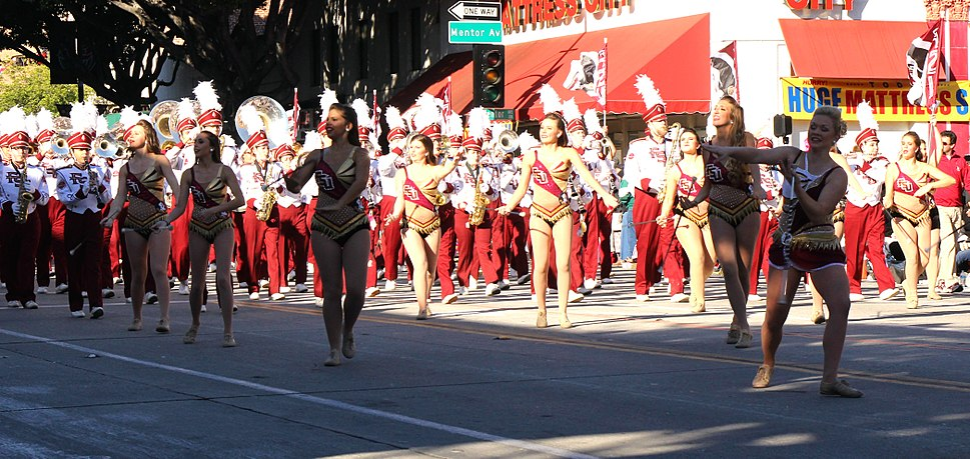 FSU Marching Chiefs and Cheerleaders