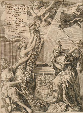 Lambert Visscher - Frontispiece to Ferdinand von Fürstenberg's Monumenta Paderbornensia, 1672